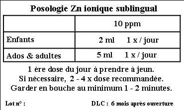 Dosierung etiq zn coll 10 ppm
