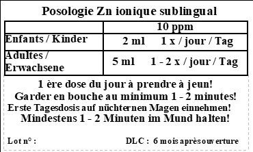 Posologie etiq zn coll fr all 10ppm grand